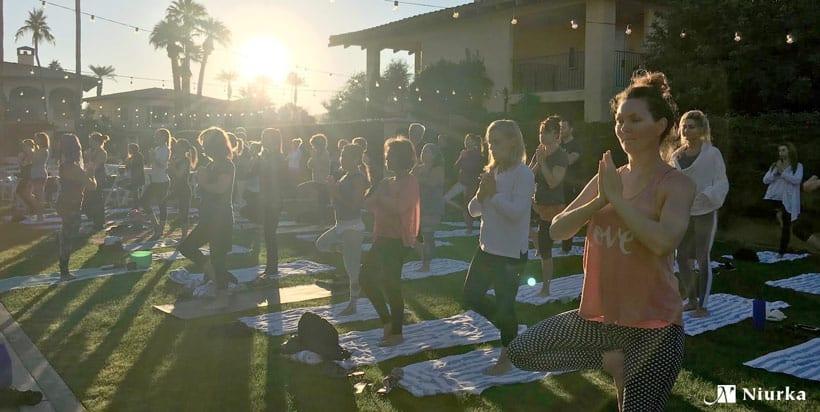 Women's Retreat yoga session with Niurka